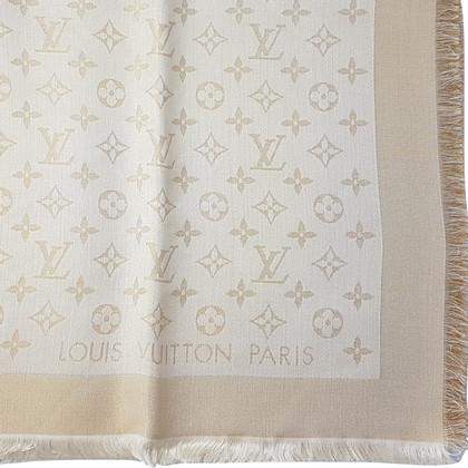 Louis Vuitton Louis Vuitton Scialle Monogram Shine Bianco