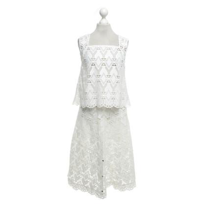 Maje Kanten kostuum in het wit