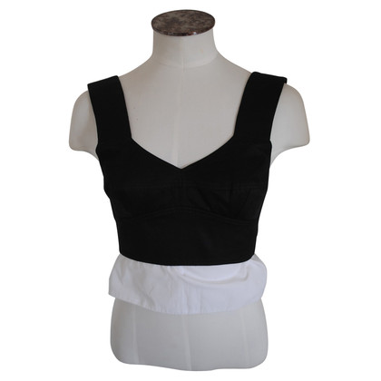 Céline Black and white corset