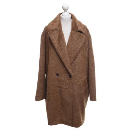 Marc Cain Faux fur coat in brown