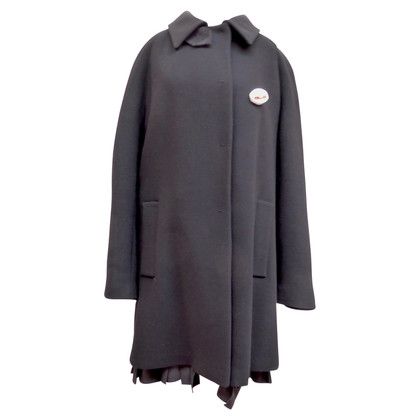 Prada Wool coat with fold hem
