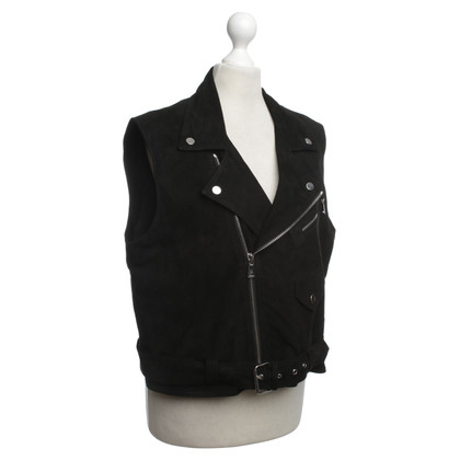Ralph Lauren Leather Vest in Black