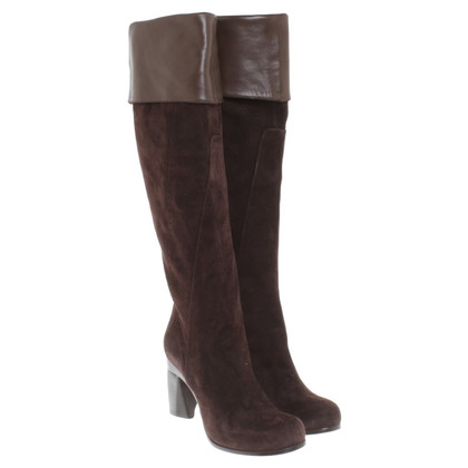 Costume National bottes en daim marron en