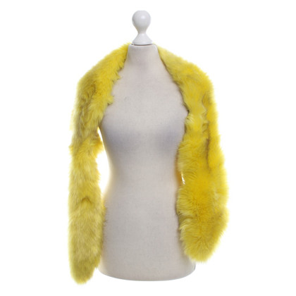 Marc Cain Faux fur stole in yellow