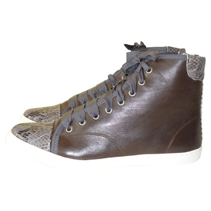 Lanvin High-top sneakers from python leather