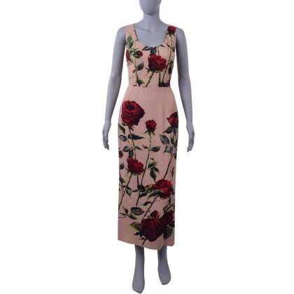Dolce & Gabbana Long dress with rose print