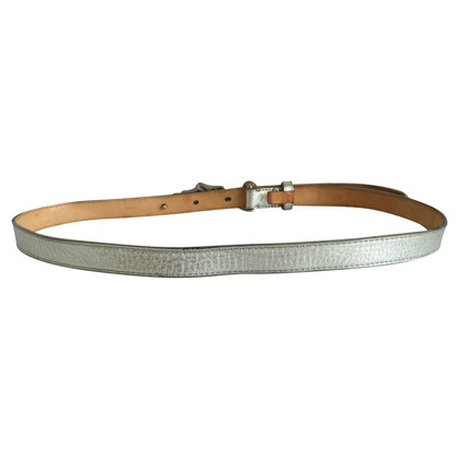Louis Vuitton Silver colored belt with logo clasp