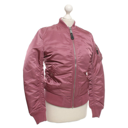 Other Designer Alpha Industries Bomber Jacket in blush pink