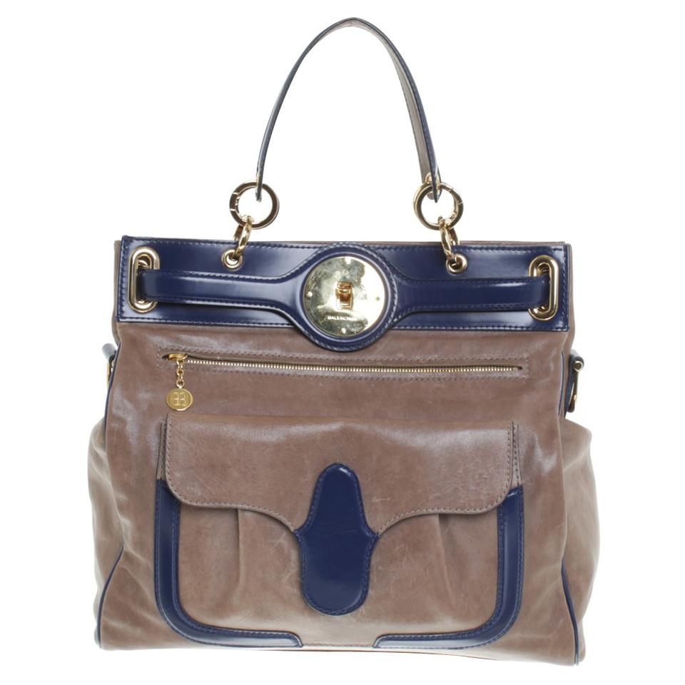 Balenciaga Lune bag Medium in grey / blue