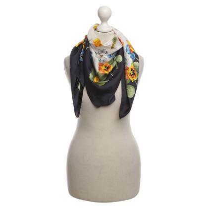 Windsor Zijden sjaal in blauw en wit