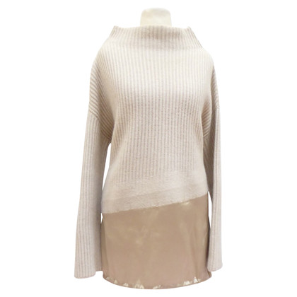 Brunello Cucinelli Cashmere wool sweater with silk edge
