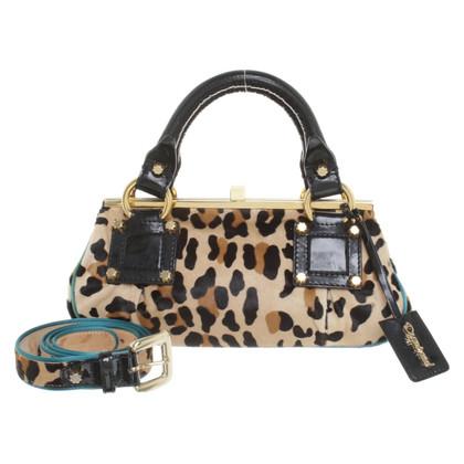 Dsquared2 Handtasche & Gürtel in Leoparden-Optik