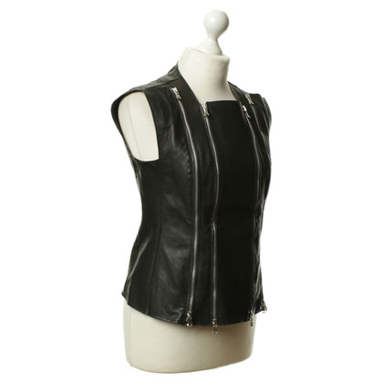 Other Designer Leather vest with zipper details