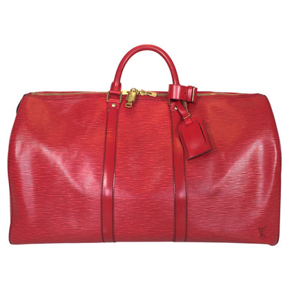 "Louis Vuitton ""Keepall 50 Epi Leather"" in red"