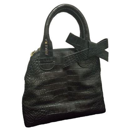 Paule Ka Handbag made of black leather