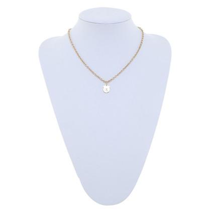 Salvatore Ferragamo Gold colored necklace with rhinestones