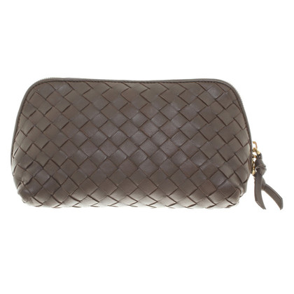 Bottega Veneta Brown cosmetic bag