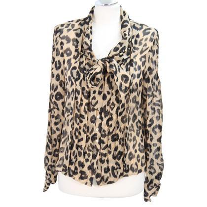 L.K. Bennett blouse en soie avec imprimé animal