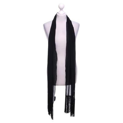 Dolce & Gabbana silk scarf in black