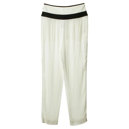 Armani Pantaloni bianchi con dettagli neri
