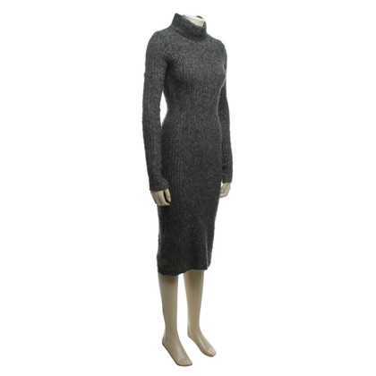 Ganni Strickkleid in Grau