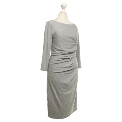 Max Mara Jersey jurk in gemêleerd lichtgrijs