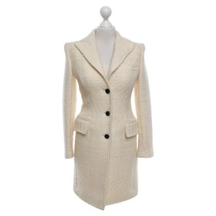 Dolce & Gabbana Coat in cream white