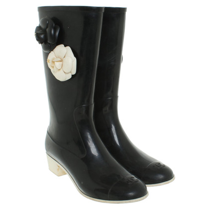Chanel Rain boots in black