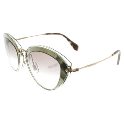 Miu Miu Sonnenbrille in Grün