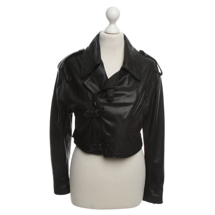 Phillip Lim Leather biker jacket in Black
