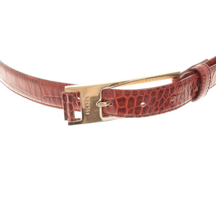 Escada Belt with reptile embossing