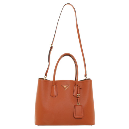 "Prada ""City Double Tote Bag Large"" in Orange"