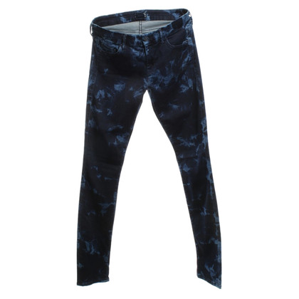 Mother Jeans mit Batikmuster
