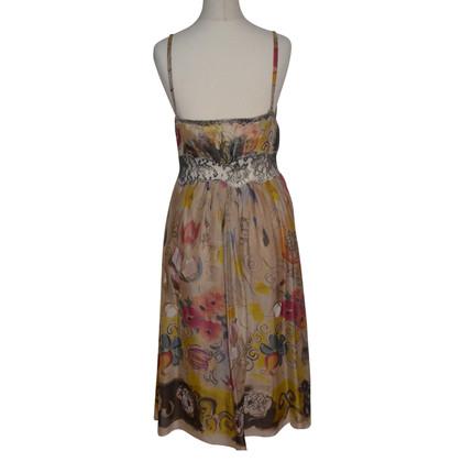 Alberta Ferretti Silk dress with lace
