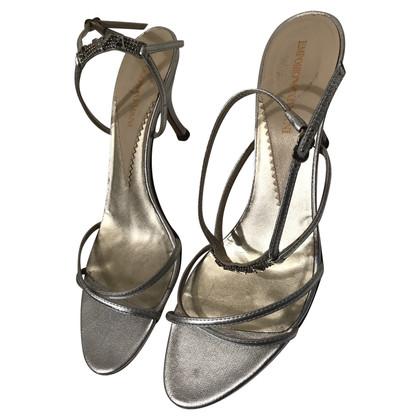 Giorgio Armani Zilverkleurige sandalen