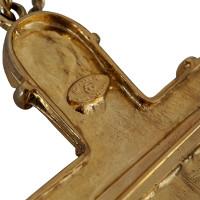 Chanel Gripoix Byzantine cross pendant / brooch
