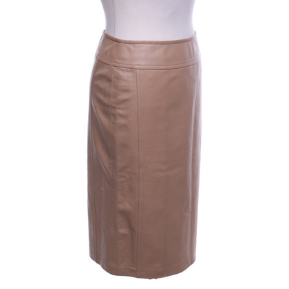 Michael Kors Leather skirt in light brown