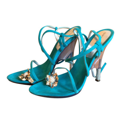 Gianmarco Lorenzi Sandals with Swarovski stones