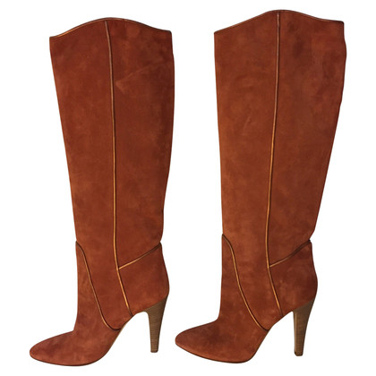 Bally Wildlederstiefel in Cognac