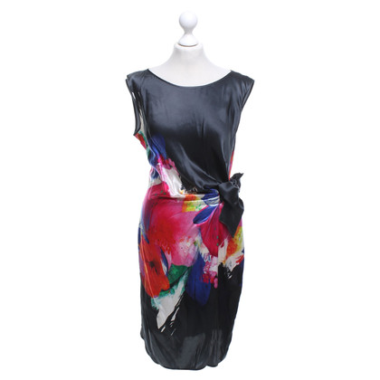 Luisa Cerano Silk dress with a floral pattern