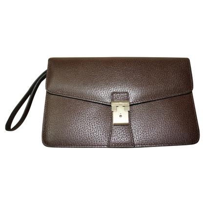 Salvatore Ferragamo clutch in brown