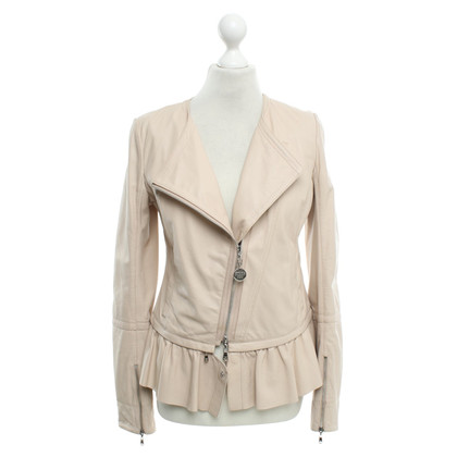Patrizia Pepe Leather jacket in nude