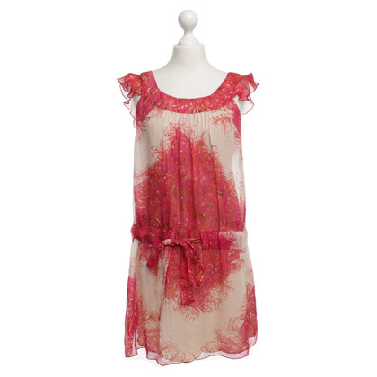 Anna Sui Silk dress in Fuchsia