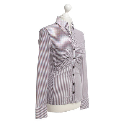 René Lezard Shirt blouse with stripes