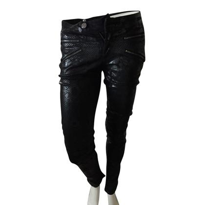 Pierre Balmain Jeans avec imprimé serpent