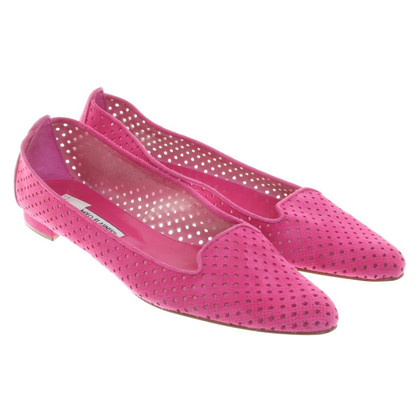 Manolo Blahnik Slipper met kantpatroon