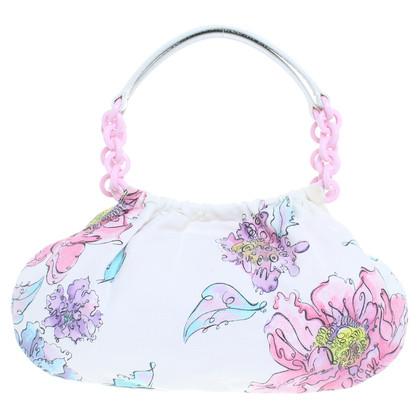 Emanuel Ungaro Tasche mit Aquarell-Blumen Motiv