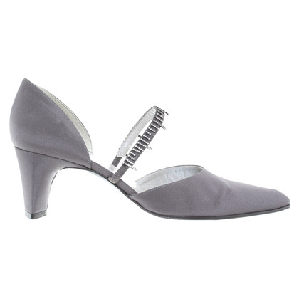 Jourdan Grigio pumps con Strassapplikation