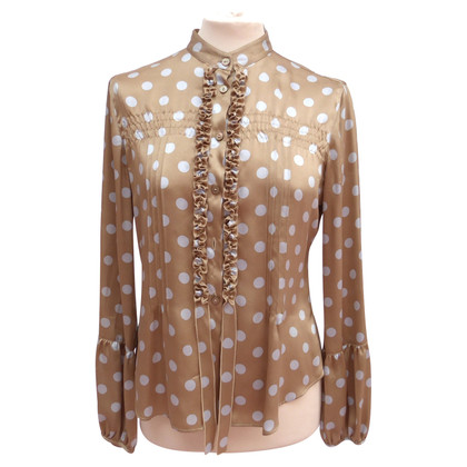 Giorgio Armani Silk blouse with tuck / frills
