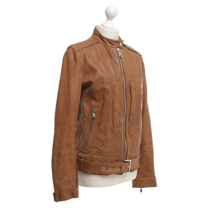 D&G Leather jacket in beige